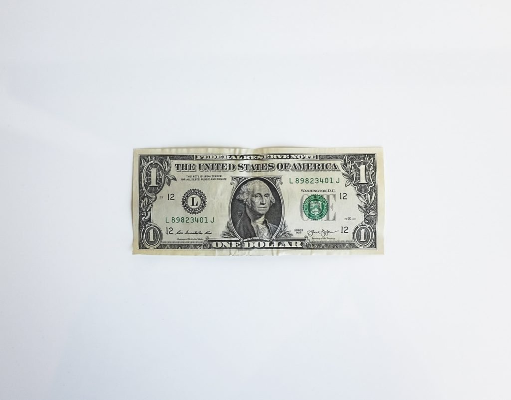 Dollar bill - the main cause and motivation to avoid moving scams