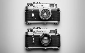 Two cameras.