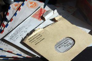 Open envelopes.