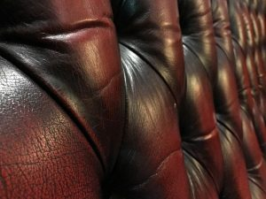 Part of leather furniture