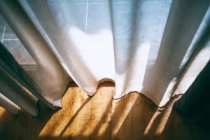 Buying new curtains is a good idea for decorating a rental apartment