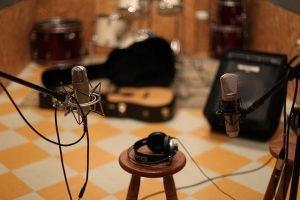 Music studio inside a storage unit