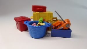 Toys depicting items for moving