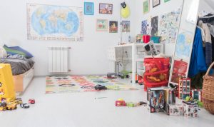 childrens bedroom with white walls