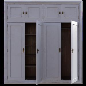 Old white closet
