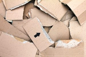 Pieces of cardboard