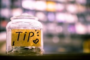 glass tip jar