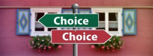 """two signs saying """"choice"""" - build a great tenant-landlord relationship"""