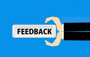 sign for feedback