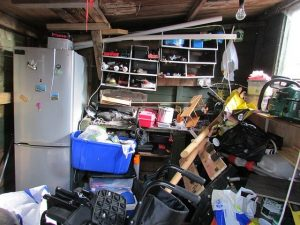 Cleaning out the clutter is one of the challenges of moving as a senior