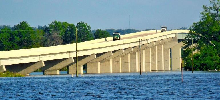 Bridge on Mississippi river