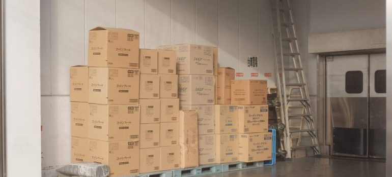 Stored cardboard boxes