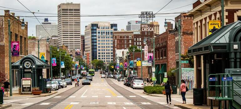 a street in Memphis